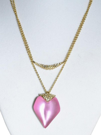 Preload https://img-static.tradesy.com/item/22801580/alexis-bittar-pink-lucite-pendant-layered-chain-heart-necklace-0-1-540-540.jpg
