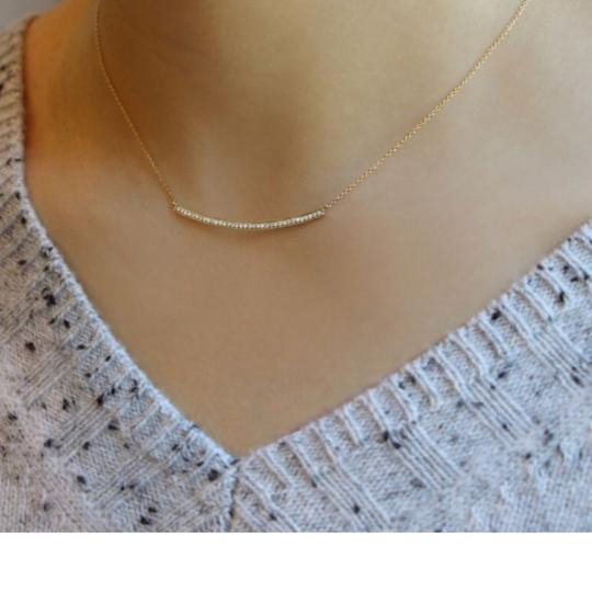 Dana Rebecca Designs SYLVIE ROSE LONG BAR NECKLACE