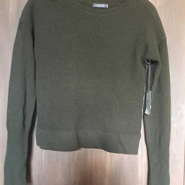 Preload https://item3.tradesy.com/images/scoop-neck-woolcashmere-blend-military-green-sweater-22801687-0-0.jpg?width=400&height=650