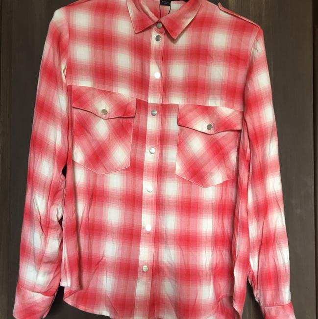 Sanctuary Button Down Shirt red/white