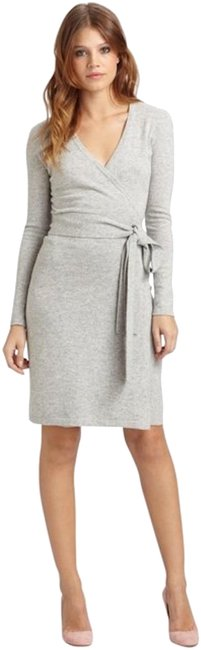 Preload https://img-static.tradesy.com/item/22801743/diane-von-furstenberg-grey-linda-melange-mid-length-short-casual-dress-size-8-m-0-1-650-650.jpg