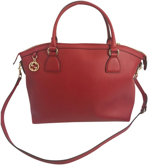 Preload https://item2.tradesy.com/images/gucci-gg-charm-red-leather-tote-22801776-0-1.jpg?width=440&height=440