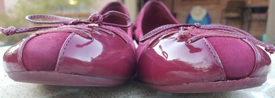 Cole Haan Patent Leather Bow Detail Round Toe Comfortable Nike-air Cranberry Flats