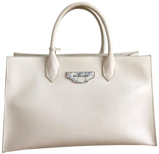 Preload https://item5.tradesy.com/images/balenciaga-work-marble-white-leather-tote-22801919-0-1.jpg?width=440&height=440