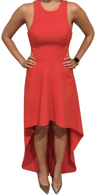 BCBGMAXAZRIA Photo Shoot Use Highlow Cut-out Dress