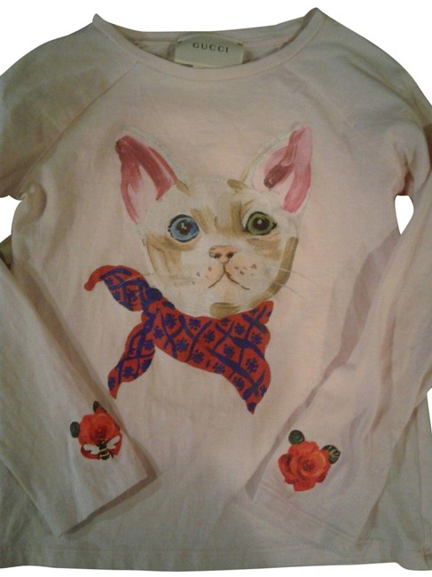 Gucci Italy T-shirt Kitty Bumble Bee T Shirt light pink