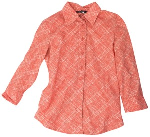 A|X Armani Exchange Button Down Shirt coral