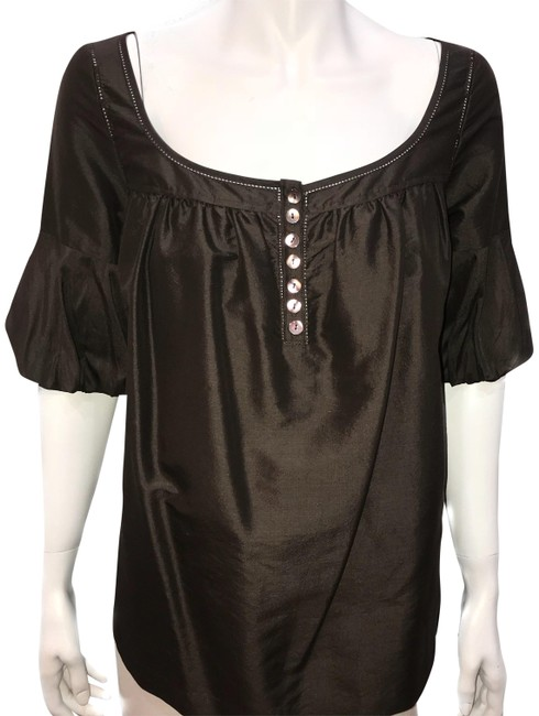 Preload https://item5.tradesy.com/images/laundry-by-shelli-segal-brown-blouse-size-4-s-22802079-0-1.jpg?width=400&height=650