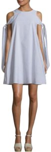 Prose & Poetry short dress Grey/white on Tradesy