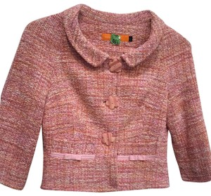 Cynthia Steffe Flower Buttons Tweed pink Jacket