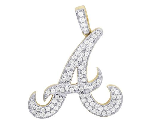 jewelry unlimited 10k yellow gold initial a baseball
