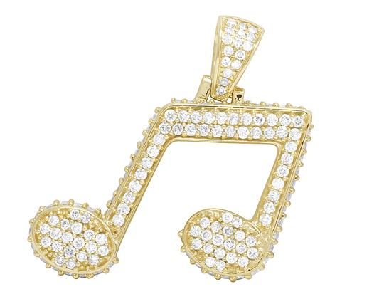 Preload https://img-static.tradesy.com/item/22802222/jewelry-unlimited-10k-yellow-gold-3d-iced-music-note-emoji-sign-real-diamond-pendant-3ct-charm-0-0-540-540.jpg