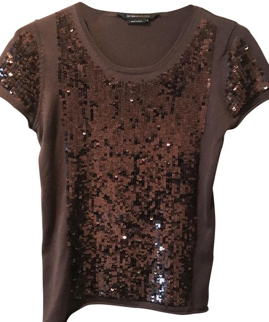 Preload https://img-static.tradesy.com/item/22802235/bcbgmaxazria-brownchocolate-cashmere-cap-sleeve-with-sequin-detailing-sweaterpullover-size-2-xs-0-1-650-650.jpg