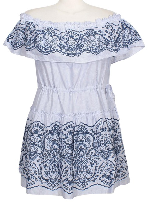 Preload https://item3.tradesy.com/images/bcbgmaxazria-chambray-white-zoey-stripe-embroidered-off-the-shoulder-short-casual-dress-size-12-l-22802307-0-1.jpg?width=400&height=650