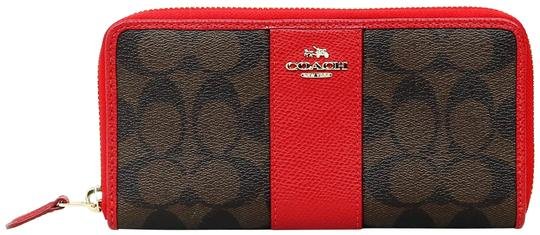 Preload https://item2.tradesy.com/images/coach-min-oh-brown-and-red-signature-monogram-true-zip-around-wallet-22802476-0-1.jpg?width=440&height=440