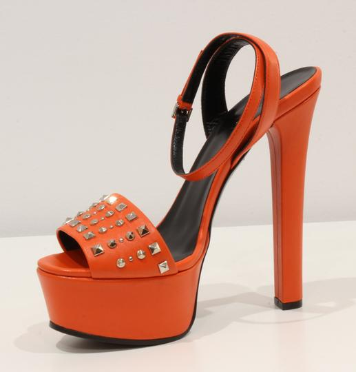 Gucci 374523 Sandal Sandals Orange Platforms