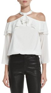 Alice + Olivia Isabel Marant Tibi Zimmermann Tory Burch Rachel Zoe Top White
