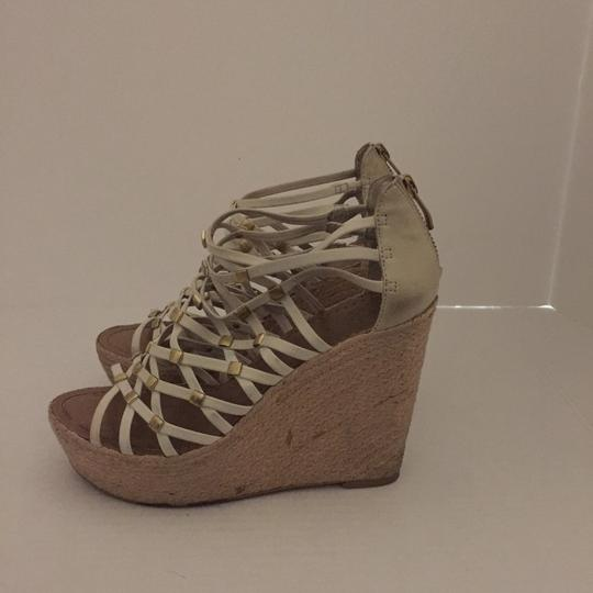 Vince Camuto Beige Tan Wedges