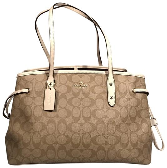 Preload https://img-static.tradesy.com/item/22802596/coach-signature-drawstring-carryall-light-khaki-pvc-shoulder-bag-0-1-540-540.jpg