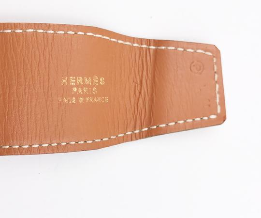 Hermès Hermes Gold Plated Double Buckle Wide Belt