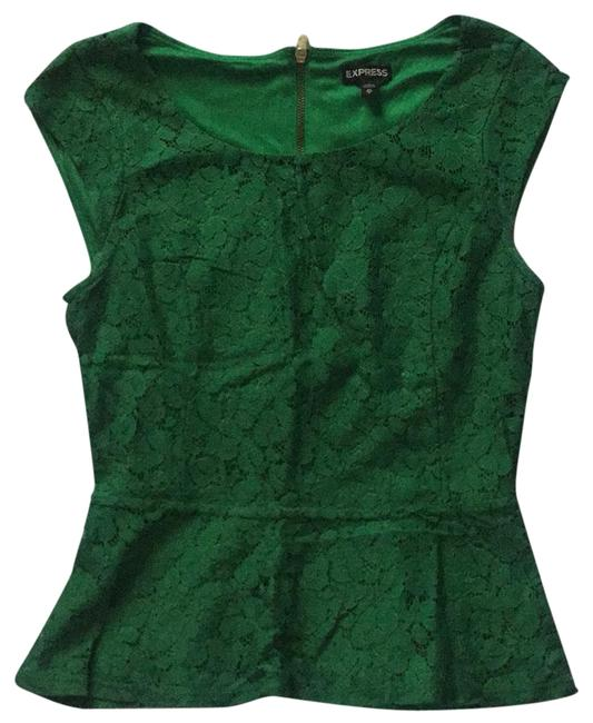 Preload https://item1.tradesy.com/images/express-green-blouse-size-2-xs-22802630-0-1.jpg?width=400&height=650