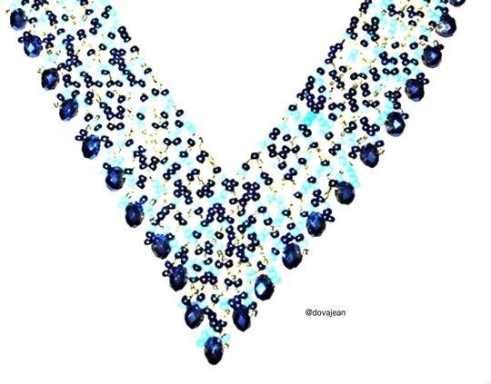 Dovajean Turquoise Coral Seed Bead Elegant Necklace