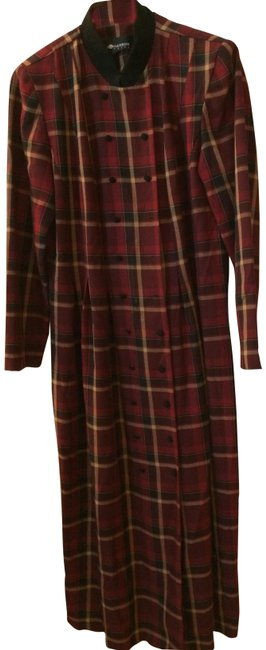 Preload https://item3.tradesy.com/images/sag-harbor-maroon-black-browns-tans-yellow-plaid-long-workoffice-dress-size-10-m-22802687-0-1.jpg?width=400&height=650