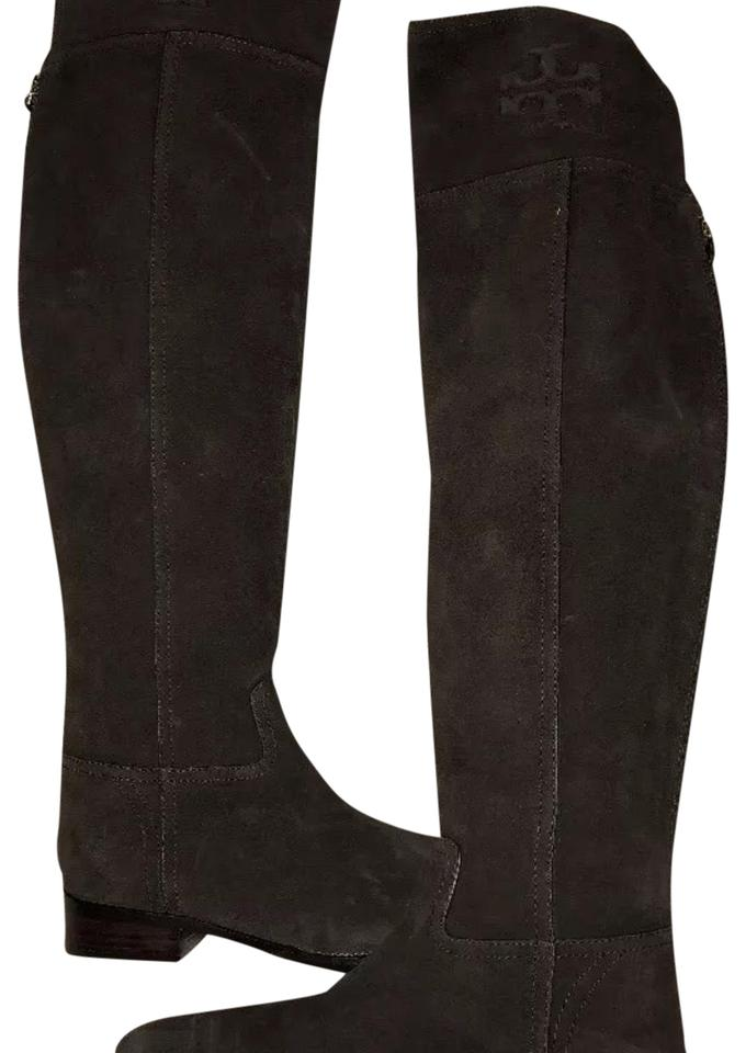 a904b3ee7 Tory Burch Brown Suede Simone Over The Knee Boots Booties Size US ...
