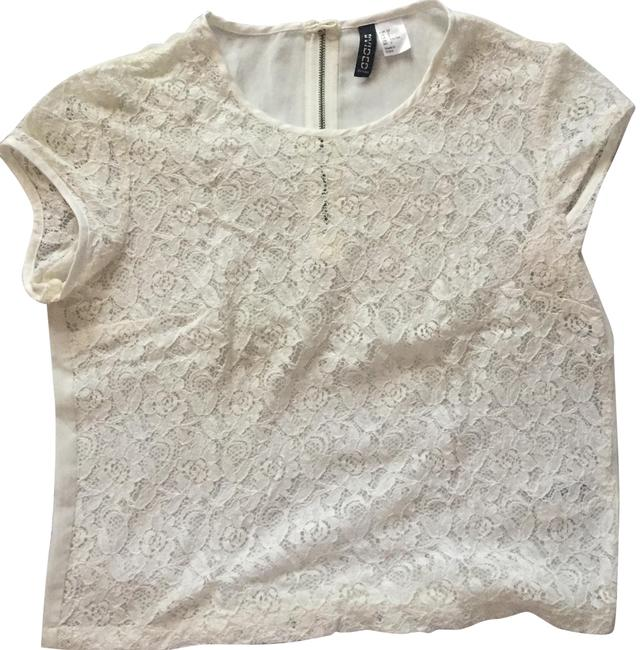Preload https://item1.tradesy.com/images/h-and-m-white-divide-blouse-size-2-xs-22802765-0-1.jpg?width=400&height=650
