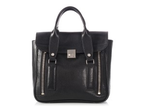 3.1 Phillip Lim Small Pl.el1215.21 Silver Hardware Zipper Satchel in Black