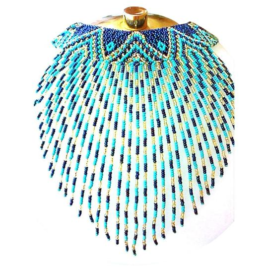 Preload https://img-static.tradesy.com/item/22802799/turquoise-and-blue-coral-seed-bead-bib-pendant-necklace-0-1-540-540.jpg