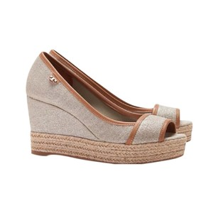 1b10aa69c Beige Tory Burch Wedges - Up to 90% off at Tradesy