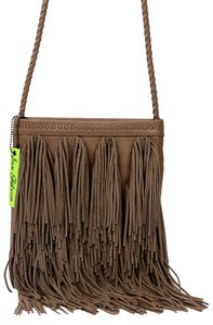 Sam Edelman Taupe Brown Exterior Pocket Interior Pocket Shoulder Bag
