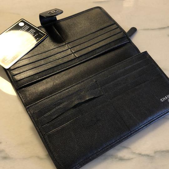 Chanel Chanel black leather long Wallet