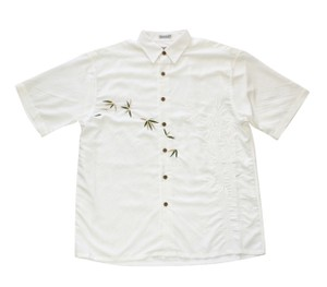 Bamboo Cay Button Down Shirt Off White