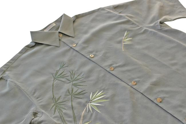 Bamboo Cay Men's Shirt Medium Button Down Shirt Olive Green