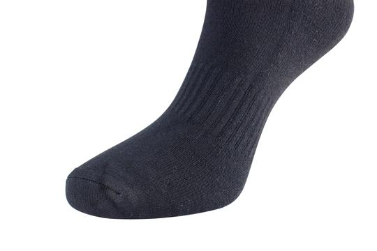 Barefoot Bamboo Barefoot Bamboo Unisex (Quarter) Cushion Ankle Socks -Set of 2 -8-10