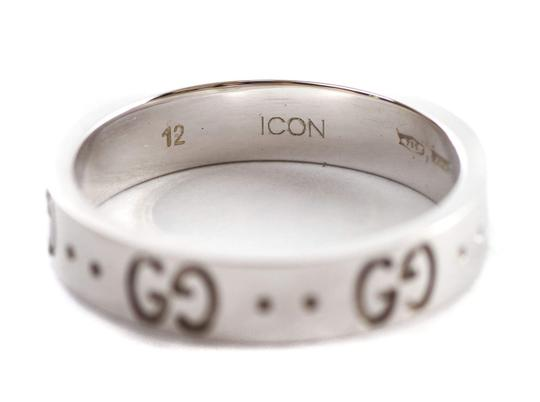 Gucci Gucci 18k White Gold Icon Thin Band Ring USA Size (6)