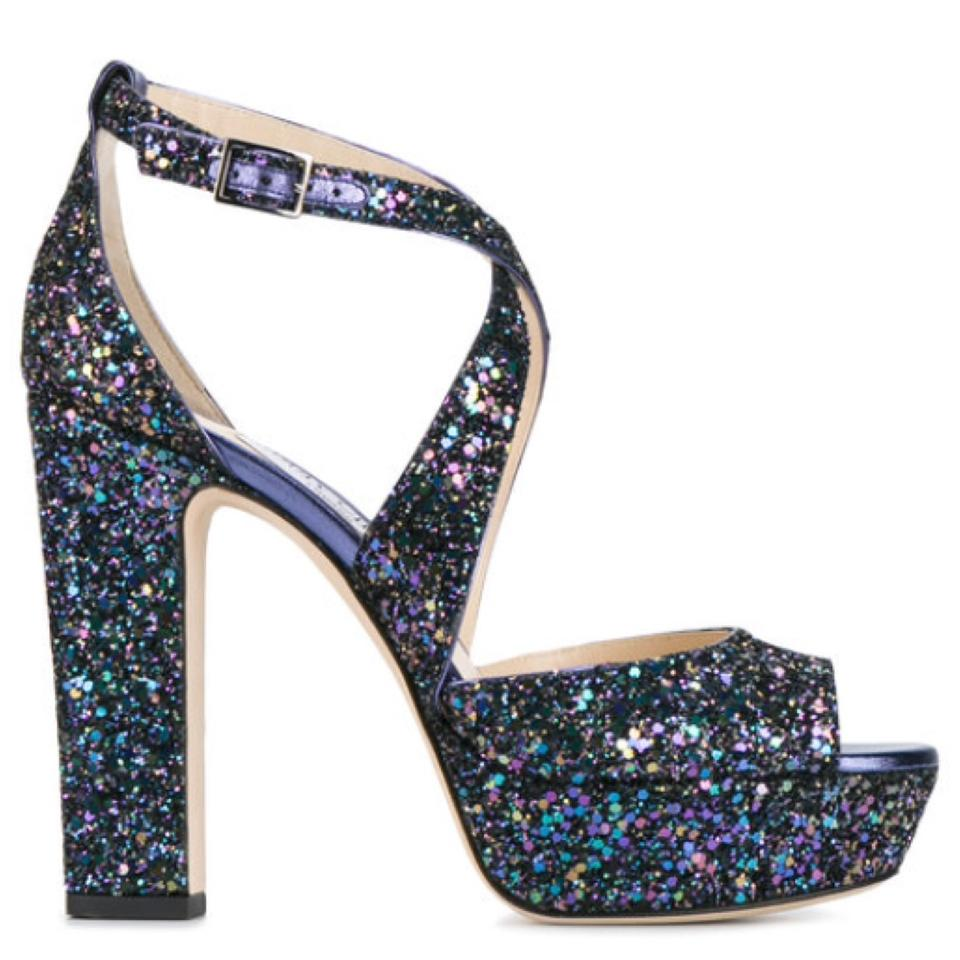 23c3c8ae1cf Jimmy Choo pestol purple glitter blue Sandals Image 10. 1234567891011