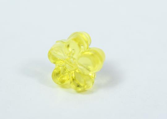 lbds 10mm Plastic Floral Pony Clear Yellow Beads,Lampwork Beads,Pony Beads,