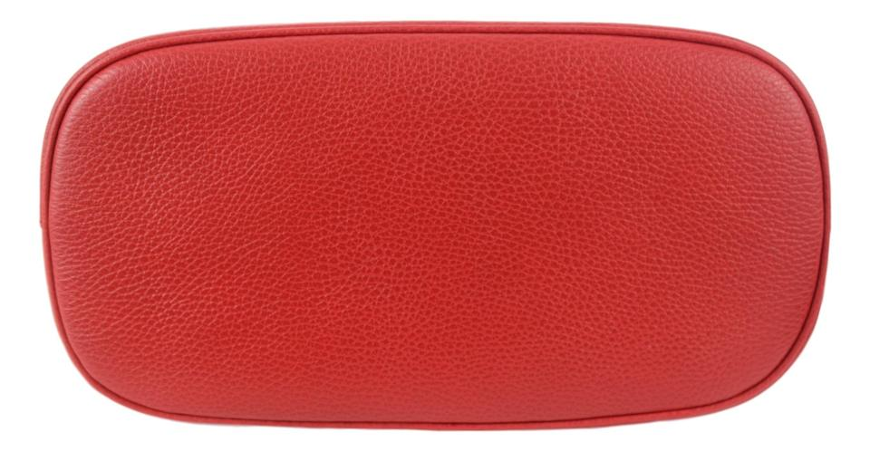 8e613f6af547 Gucci Dome 449662 Md Convertible Gg Charm Red Leather Satchel - Tradesy