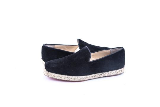 Preload https://item5.tradesy.com/images/christian-louboutin-black-relax-suede-gg-toile-rayee-flats-size-us-9-regular-m-b-22803259-0-0.jpg?width=440&height=440