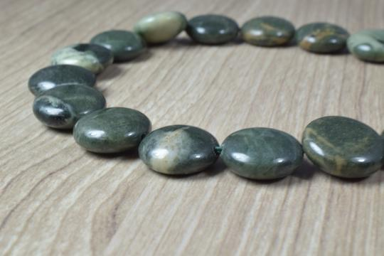 lbds 14mm Green Tri-color Agate Gemstone Beads 1 strand 20 PCs, Size 2mm ho