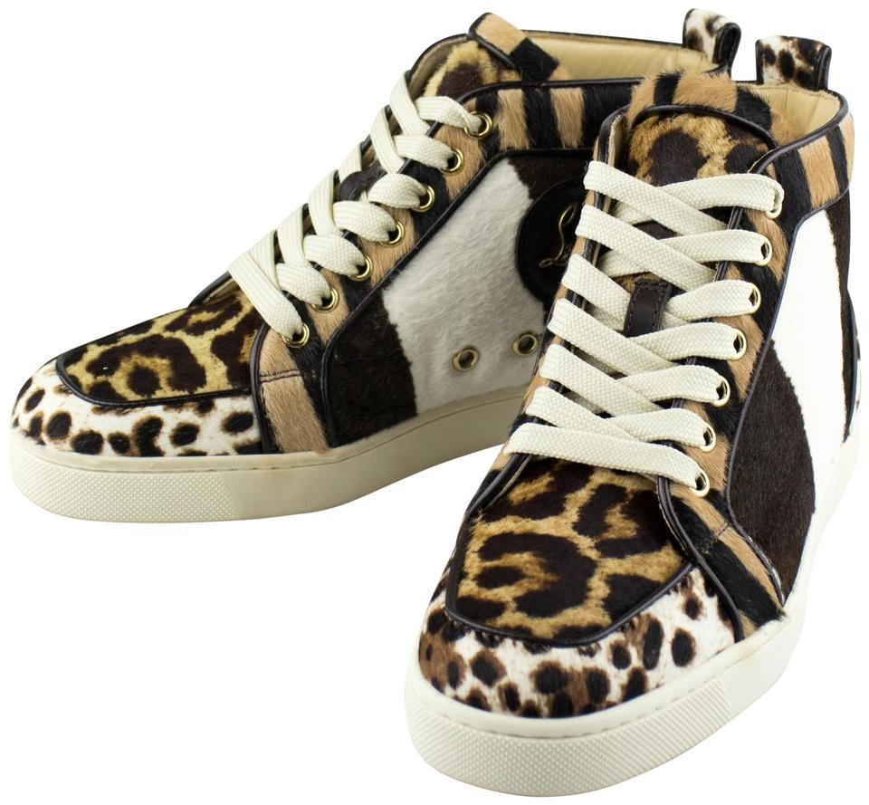 78fe23a2c00f Christian Louboutin Pony Hair Sneakers Lace-up Brown Athletic Image 0 ...