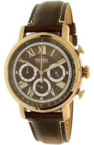 Fossil Fossil buchanan Chronograph Dark Brown Leather Watch