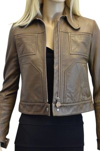 Carven Brown Leather Jacket