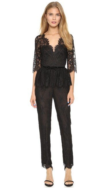 Preload https://item4.tradesy.com/images/marchesa-notte-black-34-sleeve-belted-lace-long-romperjumpsuit-size-6-s-22803423-0-0.jpg?width=400&height=650