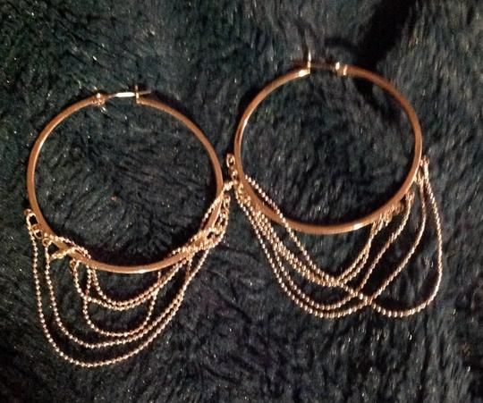 Other sterling circle/chain earrings new