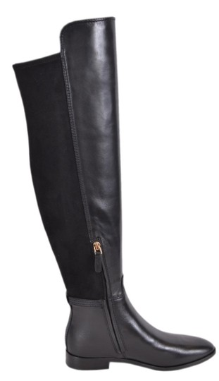 Tory Burch Riding Leather Over The Knee Black Boots