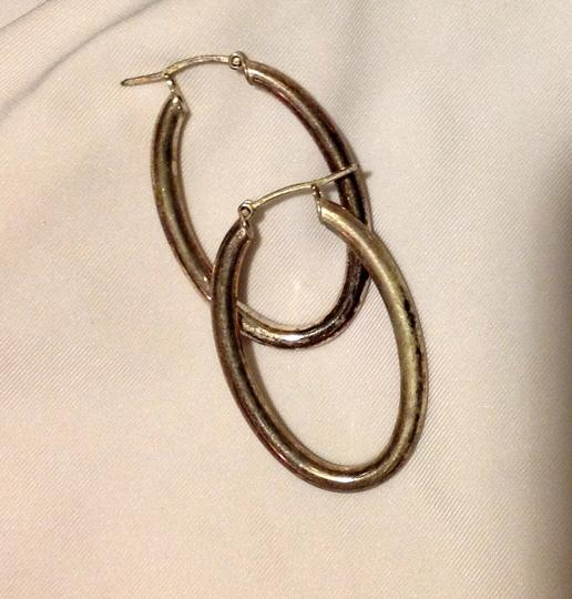 Other sterling thick small oblong hoops